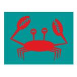 Krebs crab crawfish postkarte