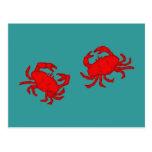 Krebse crabs postkarten