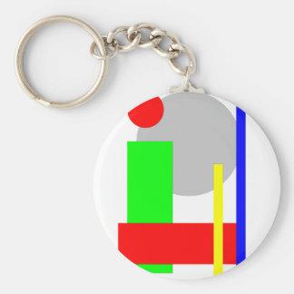 kreis-quadrat basic round button key ring