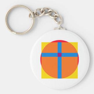 Kreis Quadrat Kreuz circle square cross Schlüsselanhänger