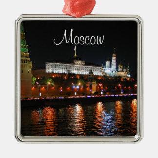 Kremlin Lights Reflecting off Moskva River, Moscow Christmas Ornament