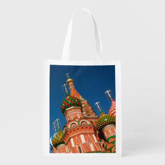 Kremlin, Vasiliy Blessed | Moscow, Russia Reusable Grocery Bag
