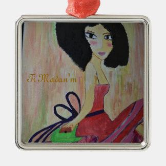 Kreyol la Fò Accessories Silver-Colored Square Decoration