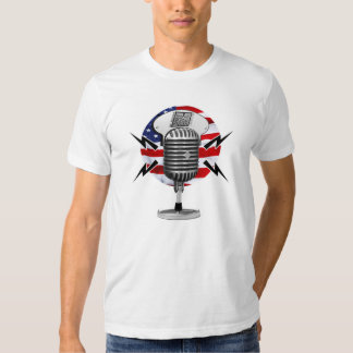 KRH Designs Mic'd Up Retro Microphone T-Shirt