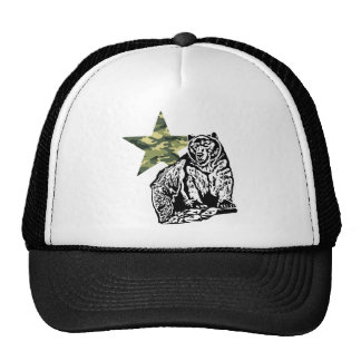 Kris Alan Grizzly bear camouflage Mesh Hats