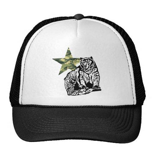 Kris Alan Grizzly bear camouflage Mesh Hats
