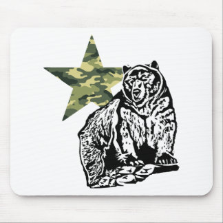 Kris Alan Grizzly bear camouflage Mouse Pads