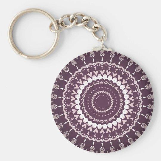 Kris Alan Trippy hippie Basic Round Button Key Ring