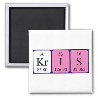Kris periodic table name magnet