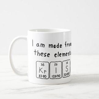 Kris periodic table name mug