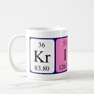 Krish periodic table name mug