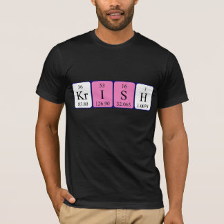 Krish periodic table name shirt