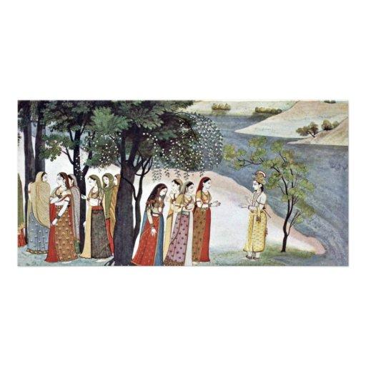 Krishna And Gopas, By Indischer Maler Um 1760/65 Photo Greeting Card