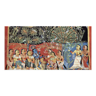 Krishna And The Gopas Forest By Westindischer Male Custom Photo Card