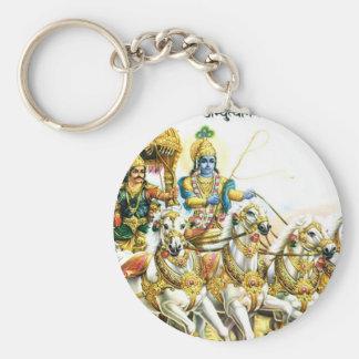 KRISHNA IN MAHABHARAT BASIC ROUND BUTTON KEY RING