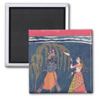 Krishna playing a flute, from the 'Vahula Magnets