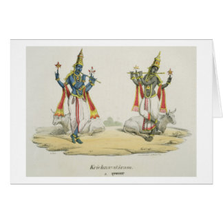 Krishna Venugopala, engraved by de Marlet and du B Card