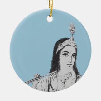 Krishna with Flute Christmas Ornament