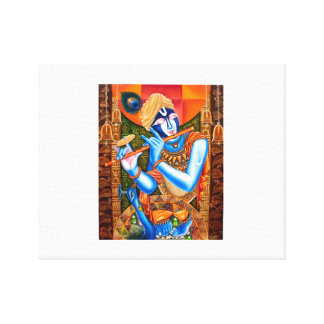 KRISHNA WITH THE FLUTE STRETCHED CANVAS PRINTS