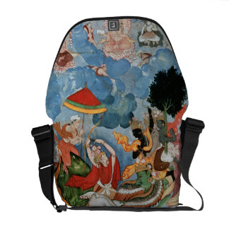 Krishna's combat with Indra, c.1590 Commuter Bag