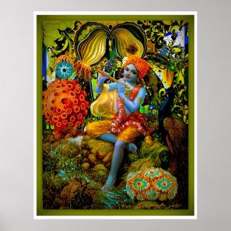 Krishna's Flute Print