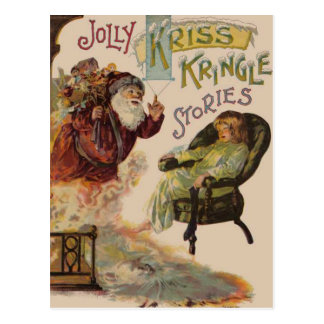 Kriss Kringle Stories of Santa Postcard