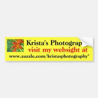 Kristas Photography Bumper Sticker #20 2020 Car Bumper Sticker