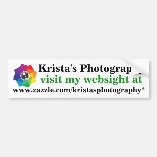 Kristas Photography logo bumpersticker 2 Bumper Stickers