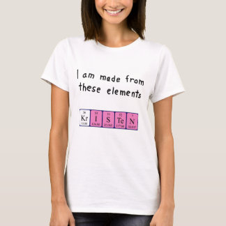 Kristen periodic table name shirt