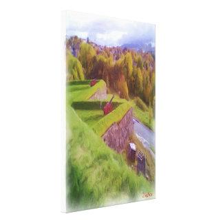 Kristiansten Fortress view  oil paint Canvas Prints