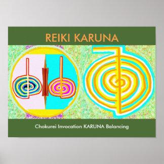 KRIYA n CHOKURAY : Reiki Karuna Healing Symbols Posters