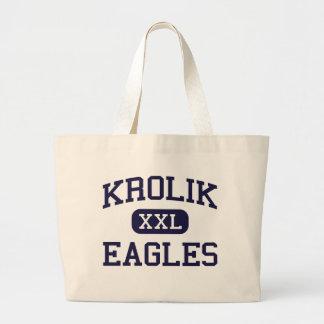 Krolik - Eagles - Alternative - Detroit Michigan Jumbo Tote Bag