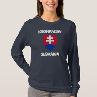 Krompachy, Slovakia with coat of arms T-Shirt
