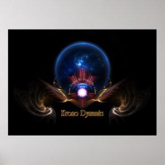 Krono Dynamic Fractal Art Poster