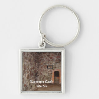 Kronoberg Castle Ruins - Sweden Silver-Colored Square Key Ring