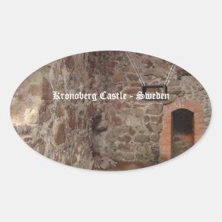 Kronoberg Castle Ruins - Sweden Oval Stickers