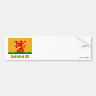 Kronobergs län flag with name bumper sticker