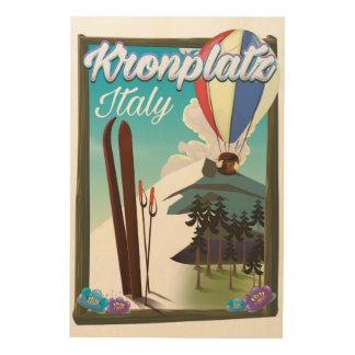 Kronplatz Italy ski travel poster