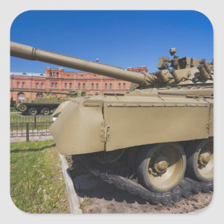 Kronverksky Island, Artillery Museum, tanks Square Sticker