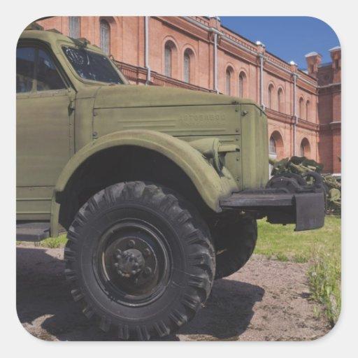 Kronverksky Island, Artillery Museum, truck Square Stickers