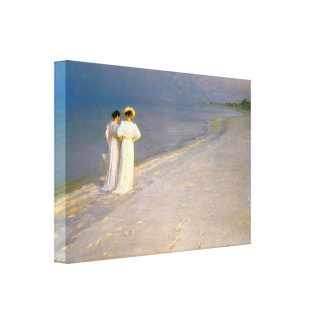 Kroyer s Summer Afternoon on Skagen Beach Gallery Wrapped Canvas