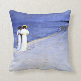 Kroyer - Summer Night on the South Beach at Skagen Cushion