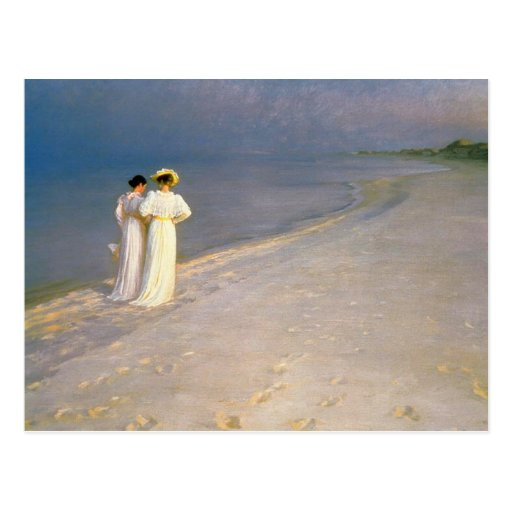"""Kroyer's """"Summer Afternoon on Skagen Beach"""" Post Card"""
