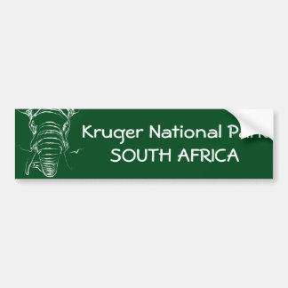 Kruger National Park Bumper Sticker