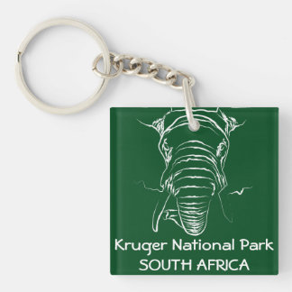 Kruger National Park Double-Sided Square Acrylic Key Ring
