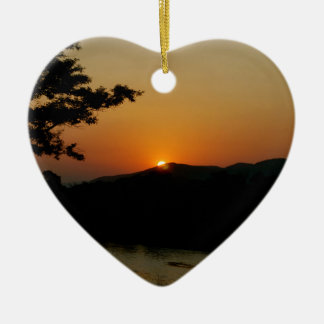 Kruger Sunset Ceramic Heart Decoration