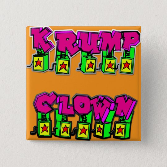 Krump Clown 15 Cm Square Badge