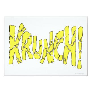 KRUNCH! 13 CM X 18 CM INVITATION CARD