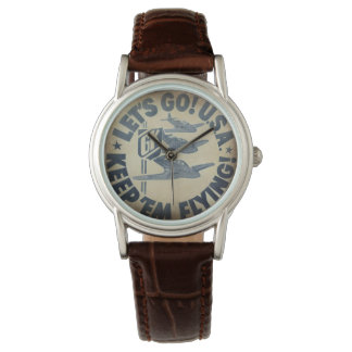 Krupa WWII wartime bassdrum logo watch