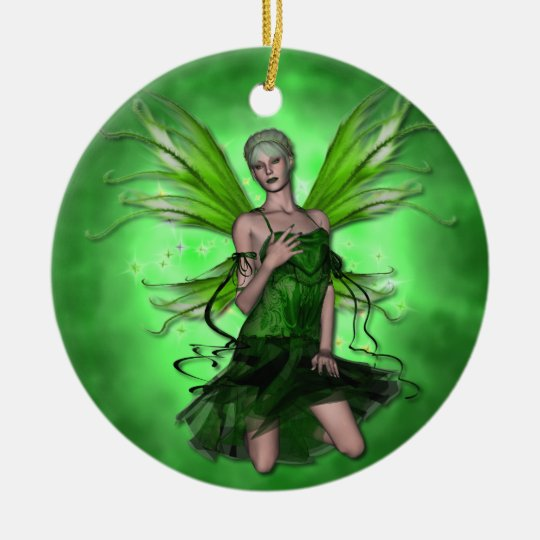 KRW Absinthe the Green Faery Fantasy Ornament